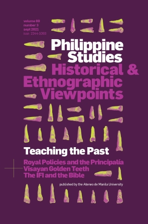 Philippine Studies: Historical and Ethnographic Viewpoints Image