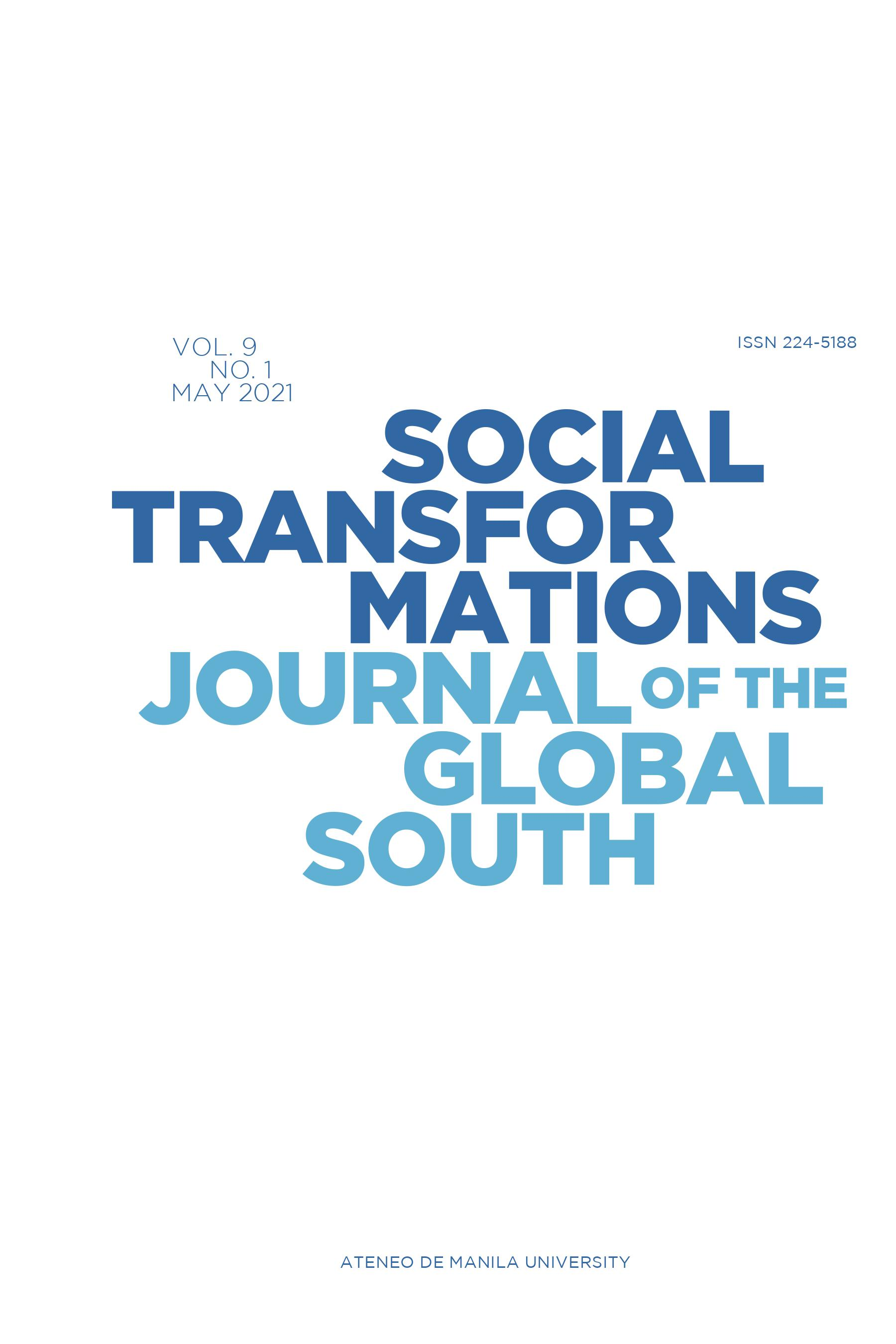 Social Transformations: Journal of the Global South Image