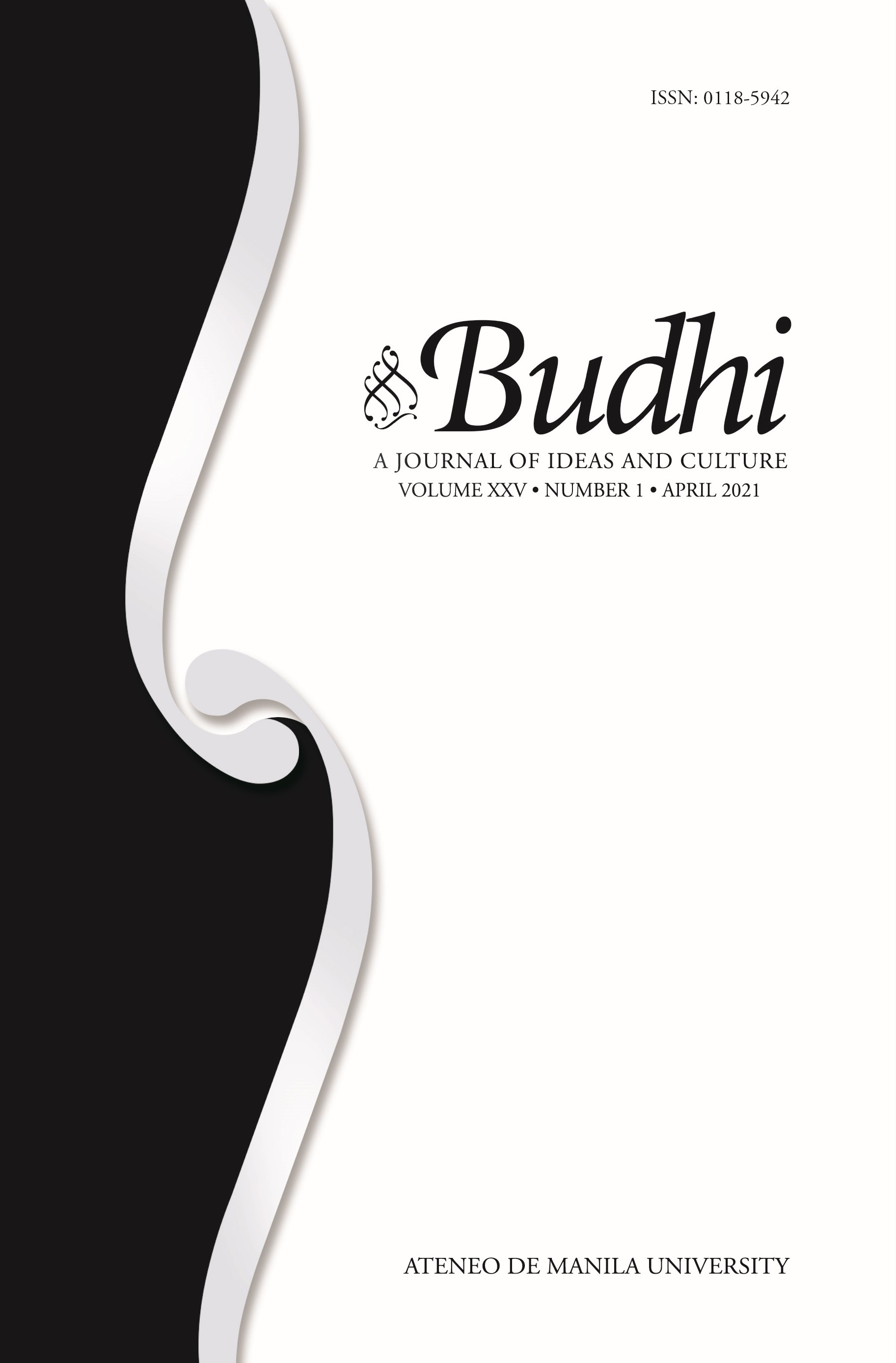 Budhi: A Journal of Ideas and Culture Image